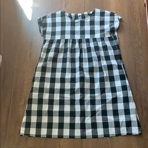 Uniqlo Girl's Short Sleeve Check Dress